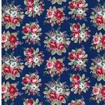 EMILIE Popeline Blumenbouquet blau