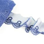 besticktes Tüllband 60 mm blau