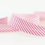 Schrägband Streifen 30 mm pink weiß