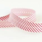 Schrägband Streifen 30 mm rot weiß