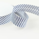 Schrägband Streifen 30 mm blau weiß