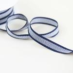 Ripsband Fischgrat 15 mm blau weiß