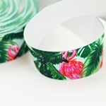 Gummiband Flamingo 35 mm grün