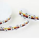 Gummiband Fußball 25 mm weiß