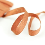 Glitzer-Ripsband Lurex 16 mm orange