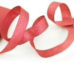 Glitzer-Ripsband Lurex 16 mm rot