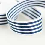 Gurtband Streifen 40 mm blau weiß