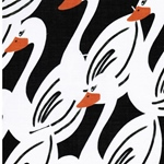 SWANS by Cherry Picking Batist schwarz