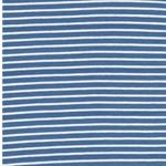 CAMPAN Jersey Streifen hellblau weiß