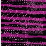 MALIN Jersey Streifen pink schwarz