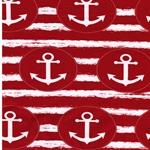 French Terry Anker Streifen rot weiß