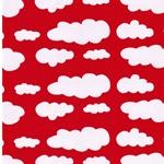 VERENA Jersey Wolken rot weiß