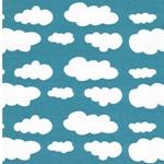VERENA Jersey Wolken pool weiß