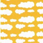 VERENA Jersey Wolken goldgelb weiß