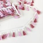 Tasselborte 42 mm rosa altrosa