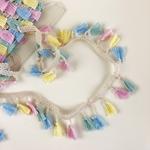 Tasselborte 42 mm pastell bunt