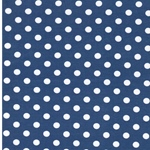 VERENA Jersey Dots jeans hell weiß