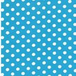 VERENA Jersey Dots aquamarin weiß