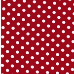 VERENA Jersey Dots mittelrot weiß