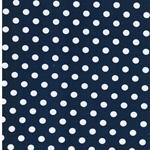 VERENA Jersey Dots jeansblau weiß