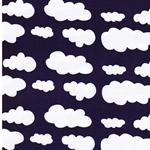 VERENA Jersey Wolken lila weiß