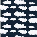 VERENA Jersey Wolken jeansblau weiß