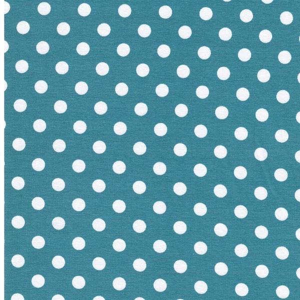VERENA Jersey Dots ozean weiß