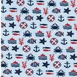 ELIF Jersey maritime Motive hellblau