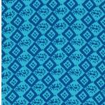 HANNA Viskose Muster türkis blau