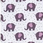 BW-Jersey Elefanten Punkte hellgrau lila