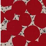 BUBBLE Leinen-BW-Webware Kreise rot