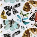 KATJA Viskose Schmetterlinge weiß bunt
