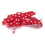 schmales Herzchenband rot weiß