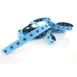 schmales Sternchenband hellblau navy