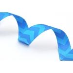Chevron-Webband blau blau