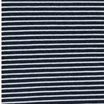 CAMPAN Jersey Streifen blau meliert weiß