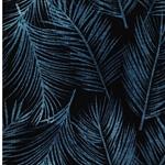 Viskose-Jersey Farnblätter dunkelblau