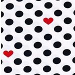 BW-Jersey Punkte Herzen weiß navy rot