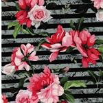 MATTI Jersey Rosen auf Streifen grau sch
