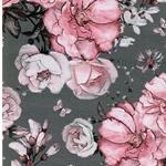 MATTI Jersey große Rosen grau