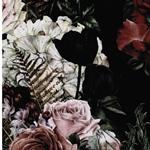MATTI Jersey Rosensträuße schwarz
