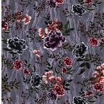 MYSTIC ROSE Viskosejersey Blumen grau