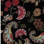 PETALS Viskose Blumen schwarz