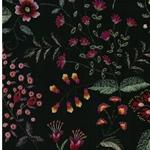 WILD FLOWERS Viskose Blumen waldgrün