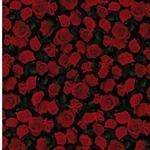 ROSES Viskose Rosen schwarz rot