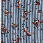 FLOWER STRIPE Viskose Streifen Blümchen