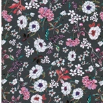 TENDOLA Viskose Blumen grau