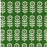 SCANDINAVIAN DESIGN Webware Blumen grün