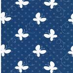 BW-Jersey Schmetterlinge blau weiß