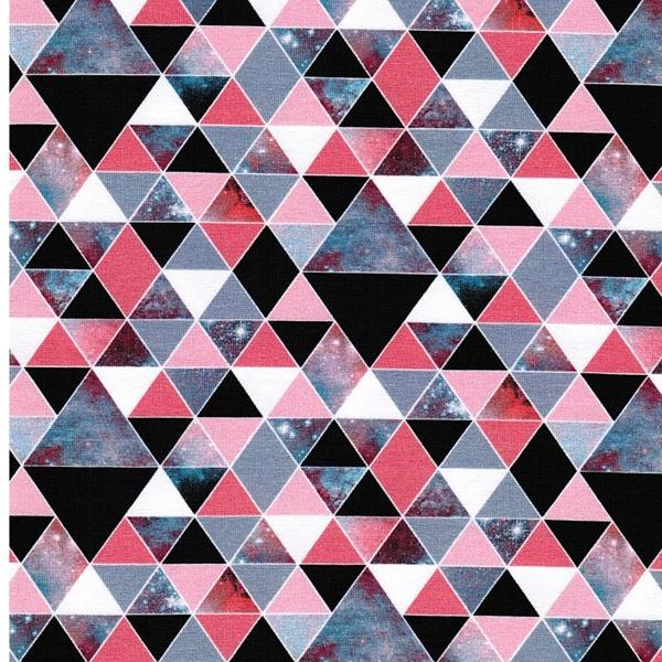 GEOSPACE Jersey Dreiecke schwarz rosa